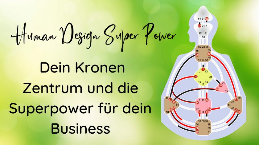 [Human Design] Dein Kronen Zentrum und die Superpower für dein Business